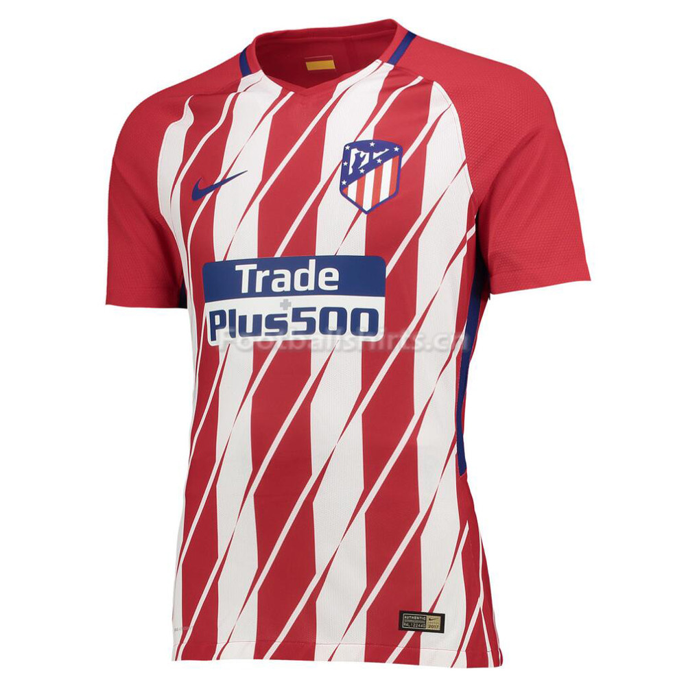 Match Version Atletico Madrid Home Soccer Jersey 2017/18