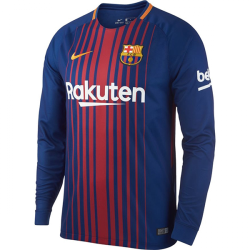 Barcelona Home Long Sleeve Soccer Jersey 2017/18