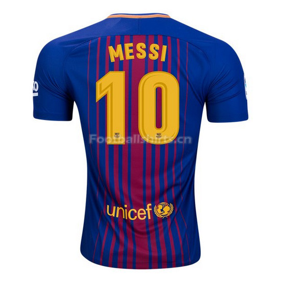 Barcelona Home Messi #10 Soccer Jersey 2017/18