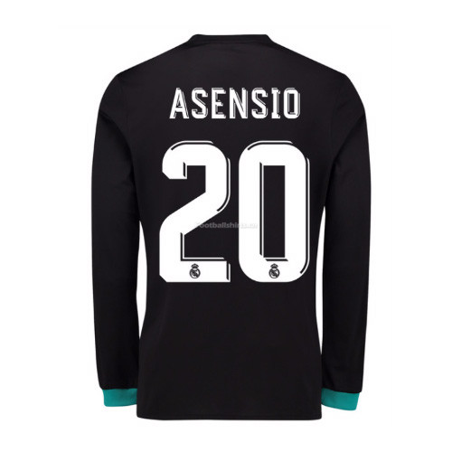 Real Madrid Away Asensio #20 Long Sleeve Soccer Jersey 2017/18