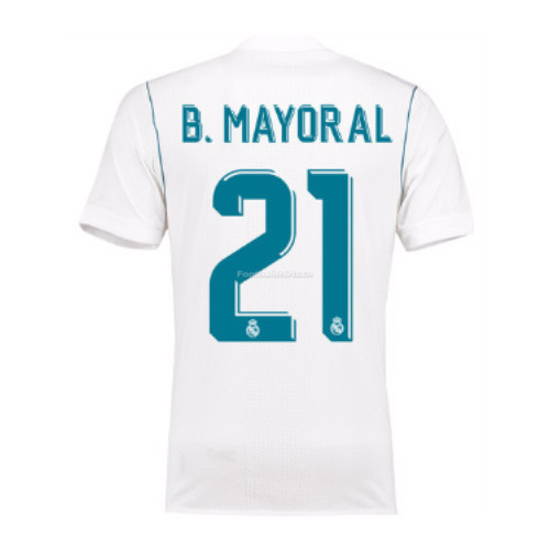 Real Madrid Home B. Mayoral #21 Soccer Jersey 2017/18