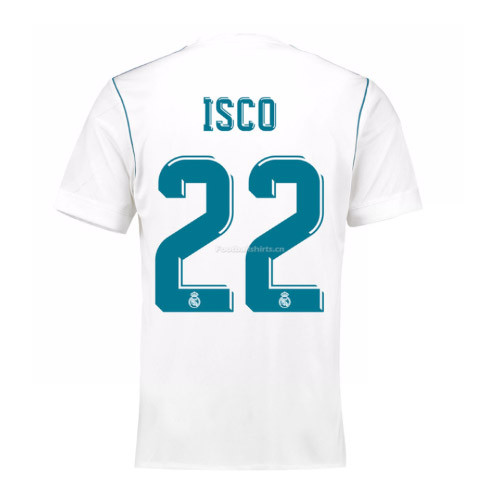 Real Madrid Home Isco #22 Soccer Jersey 2017/18