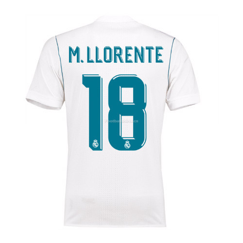 Real Madrid Home M. Llorente #18 Soccer Jersey 2017/18