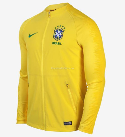 Brazil 2018 World Cup Yellow Training Jacket