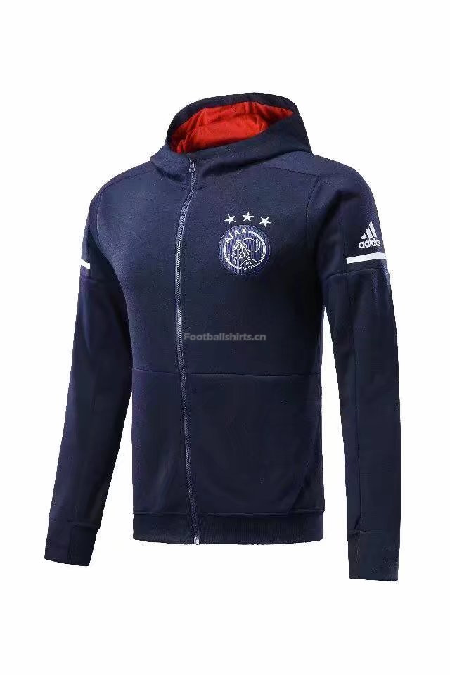 Ajax Royal Blue Hoodie Jacket 2017/18