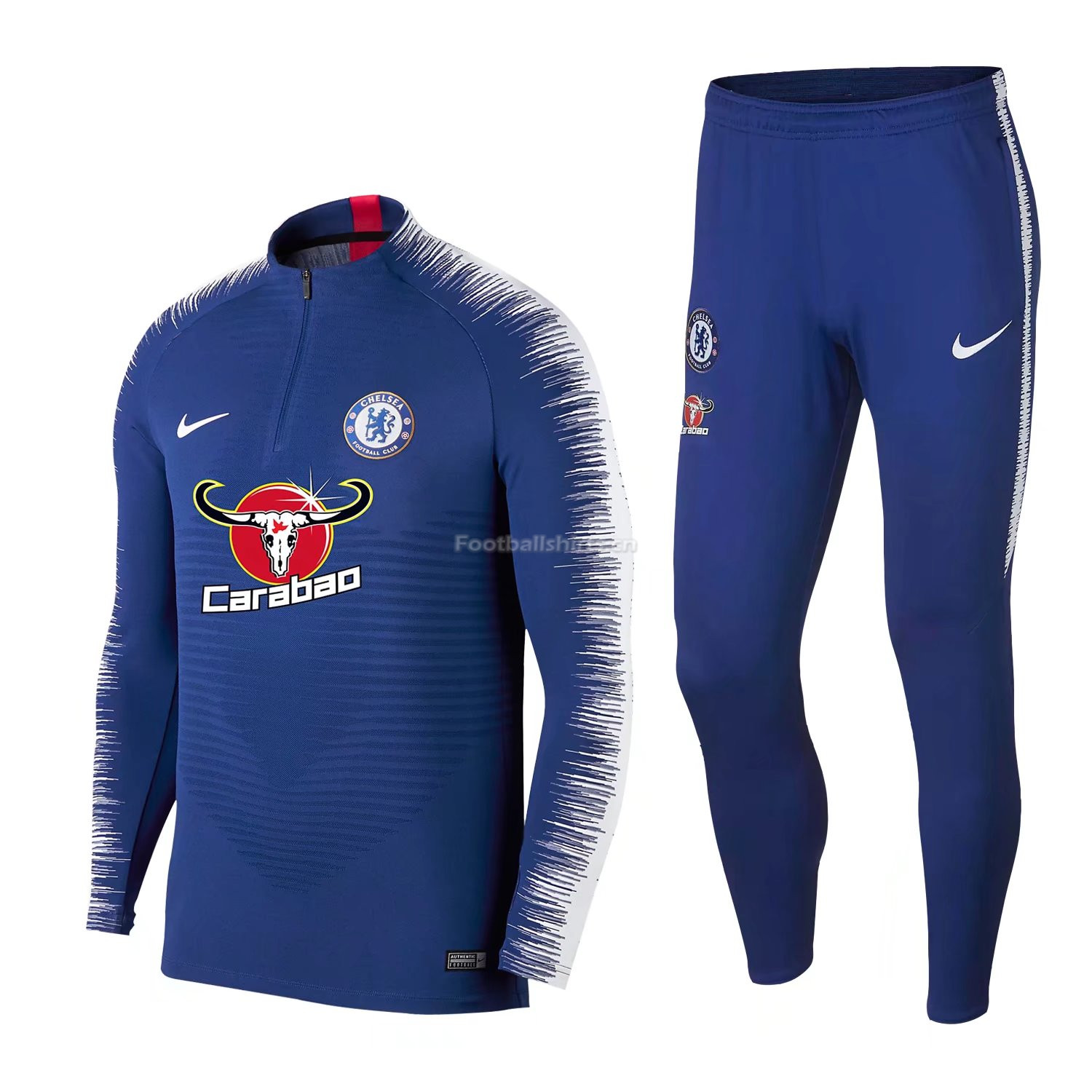 Chelsea Blue Stripe Training Suit 2018/19