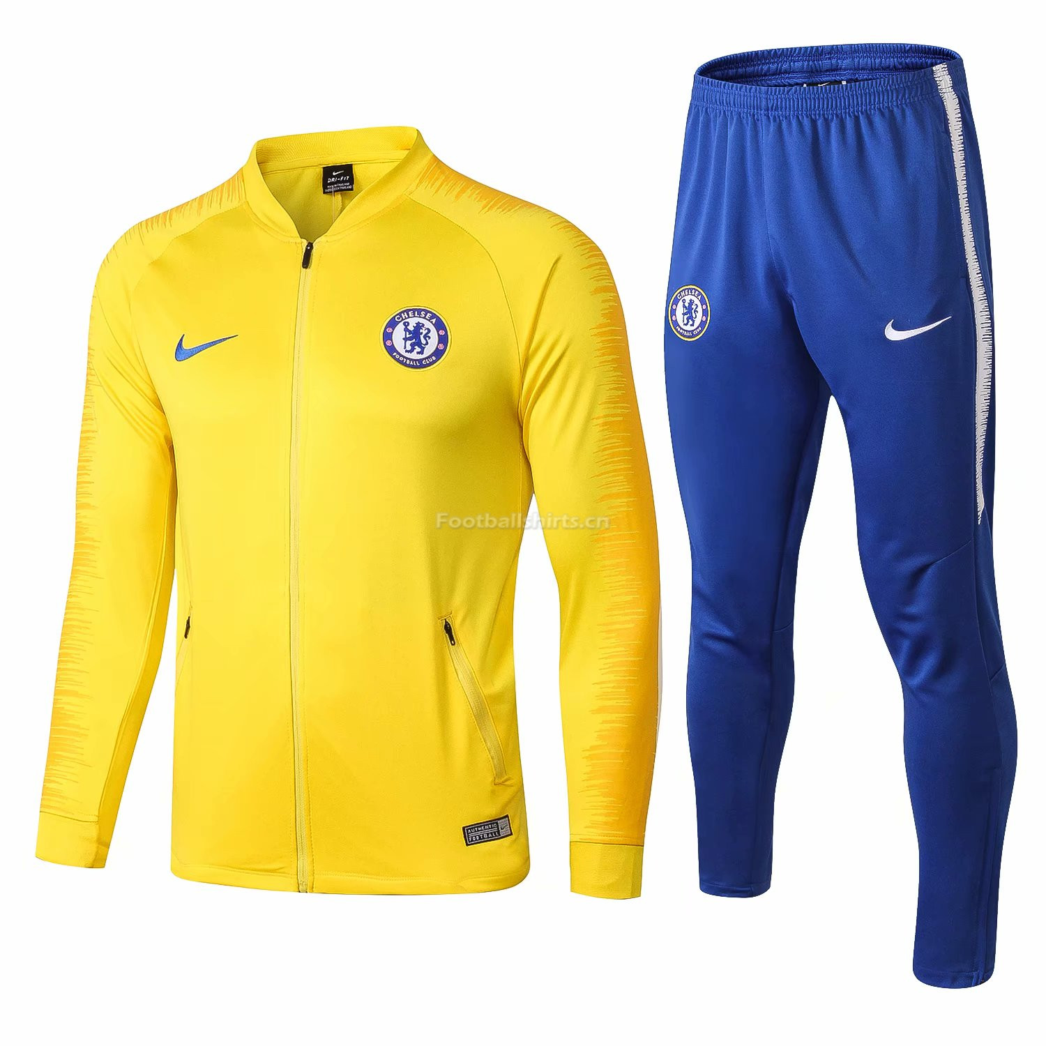 Chelsea Yellow Training Suit (Jacket+Trouser) 2018/19