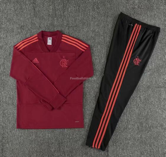 Flamengo Red V'Neck Training Suit (Sweat Shirt+Trouser) 2018/19