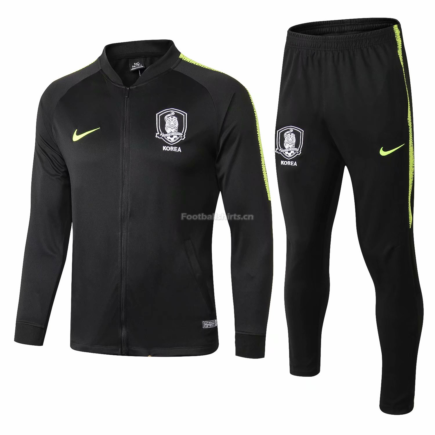 Korea Black Training Suit (Jacket+Trouser) 2018/19