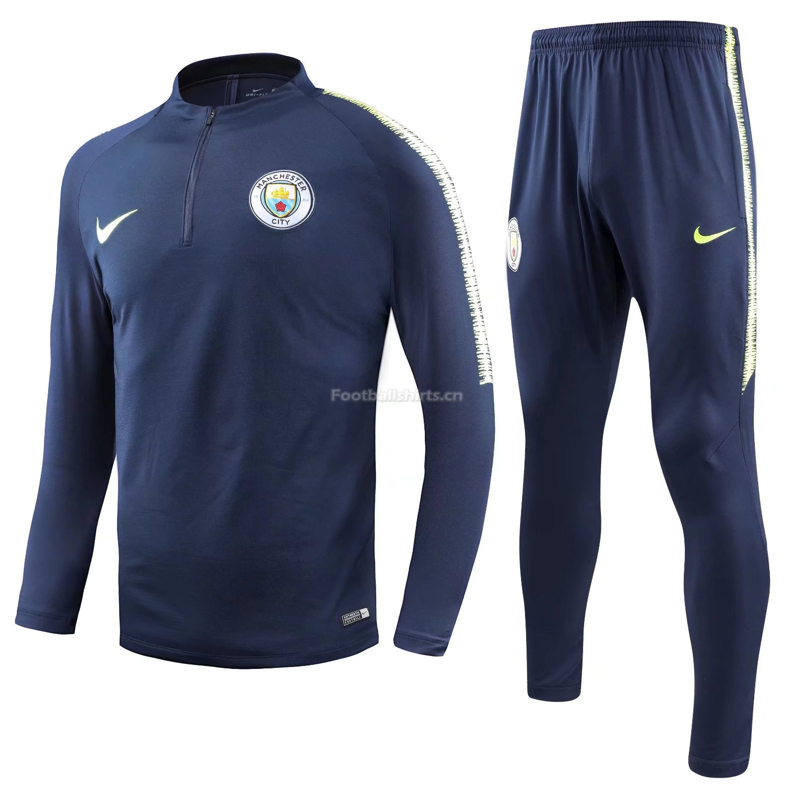 Manchester City Navy Training Suit (Shirt+Trouser) 2018/19