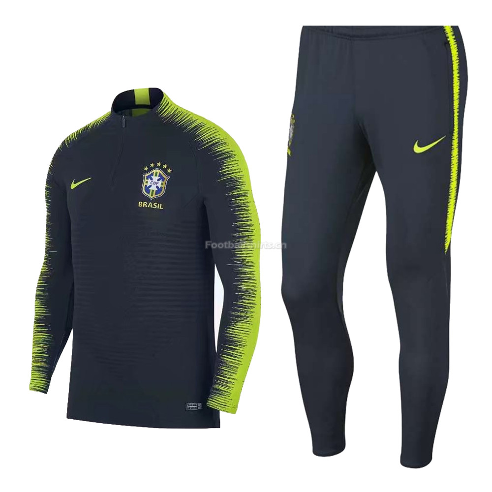 Brazil FIFA World Cup 2018 Training Suit Green Stripe + Pants