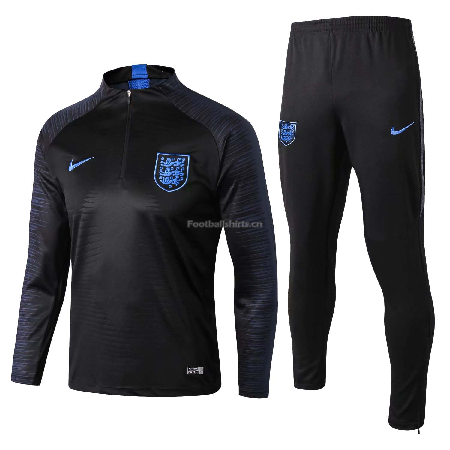 England FIFA World Cup 2018 Black Stripe Training Suit