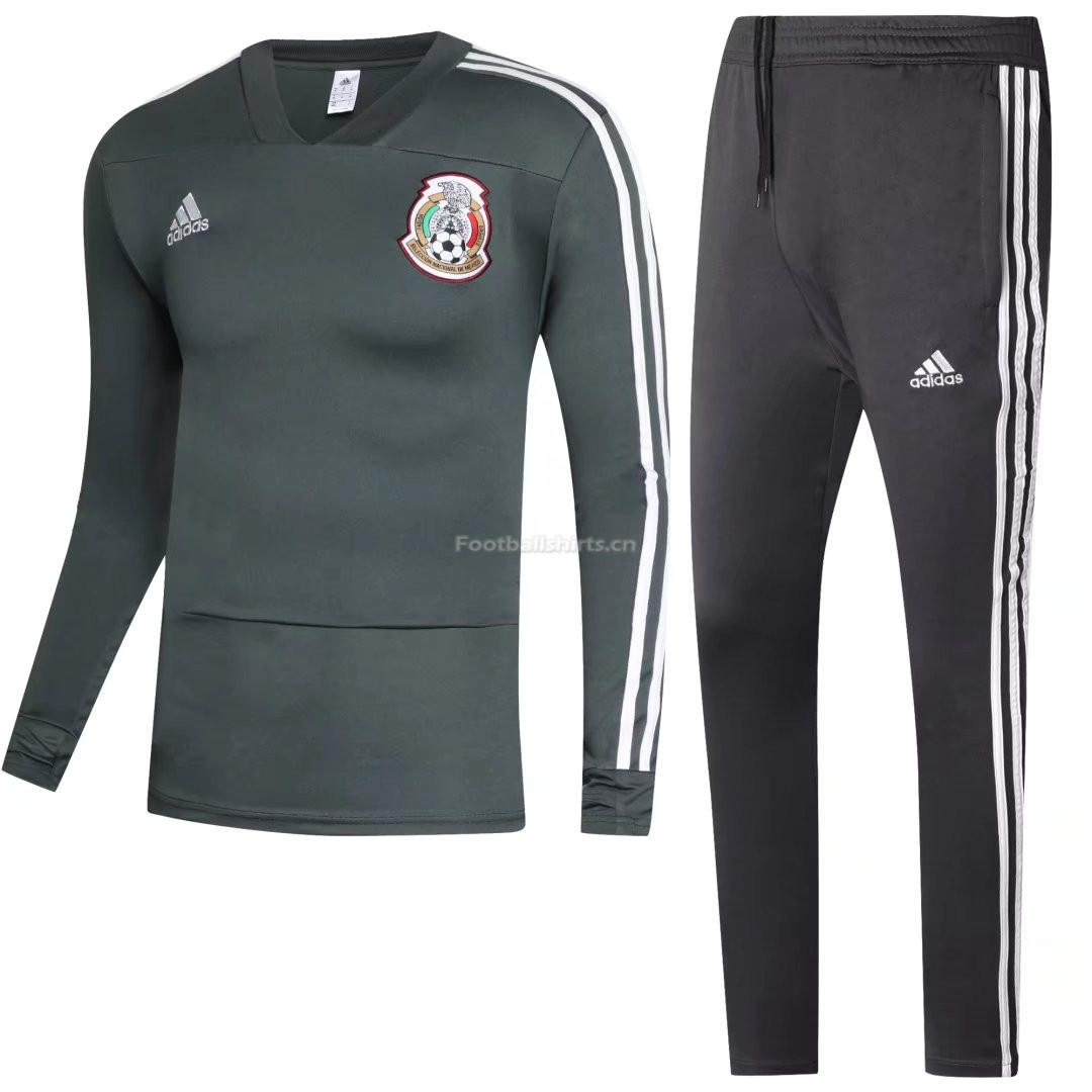 Mexico FIFA World Cup 2018 Green Sweat Shirt + Pants Training Su