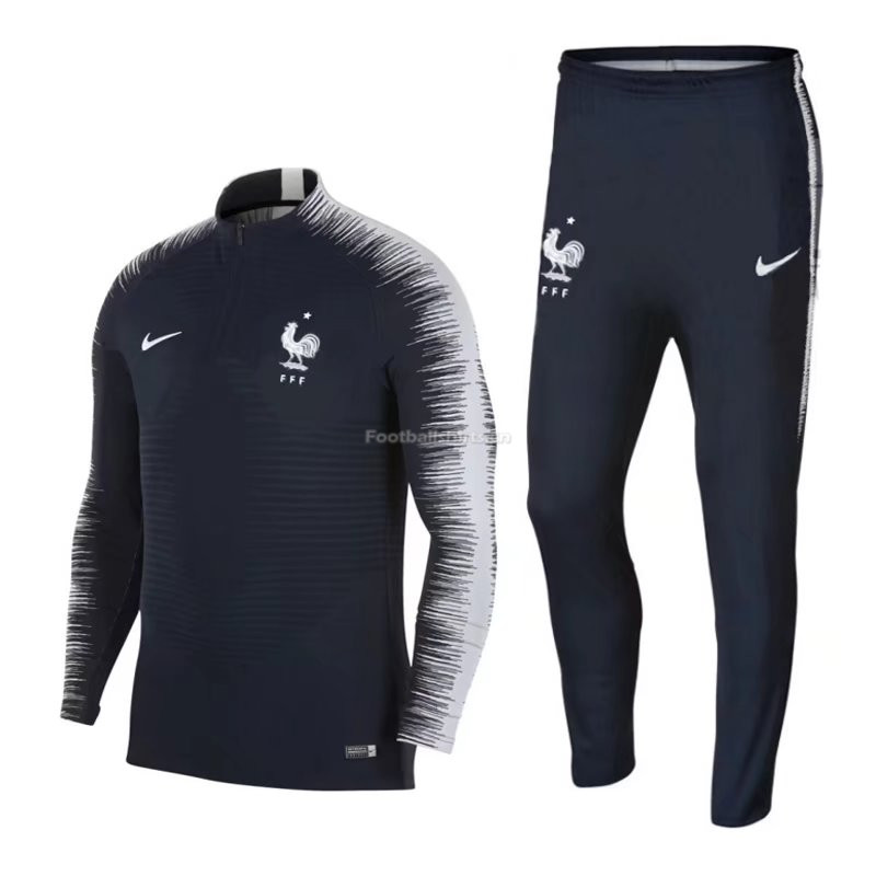 France FIFA World Cup 2018 Training Suit Black(Sweat Shirt+Trous