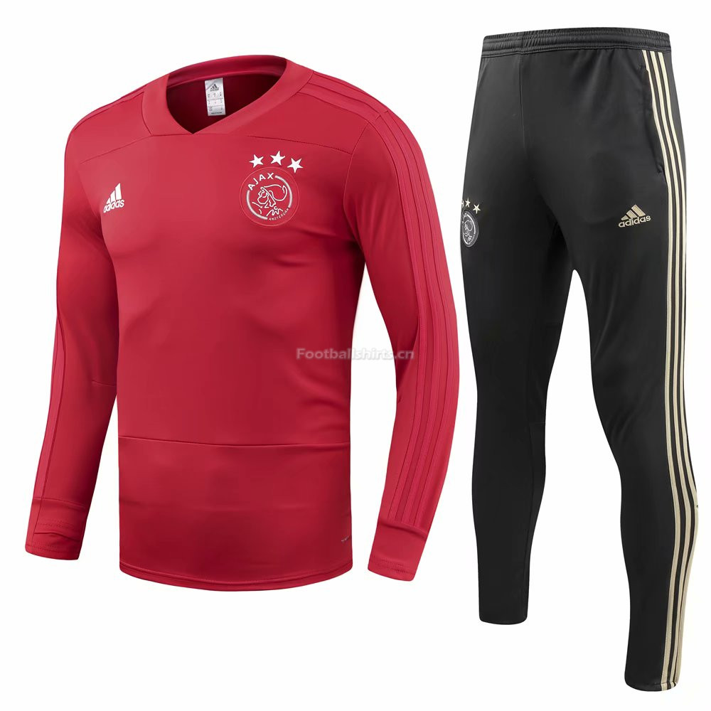 Ajax Red O'Neck Training Suit (Shirt+Trouser) 2018/19