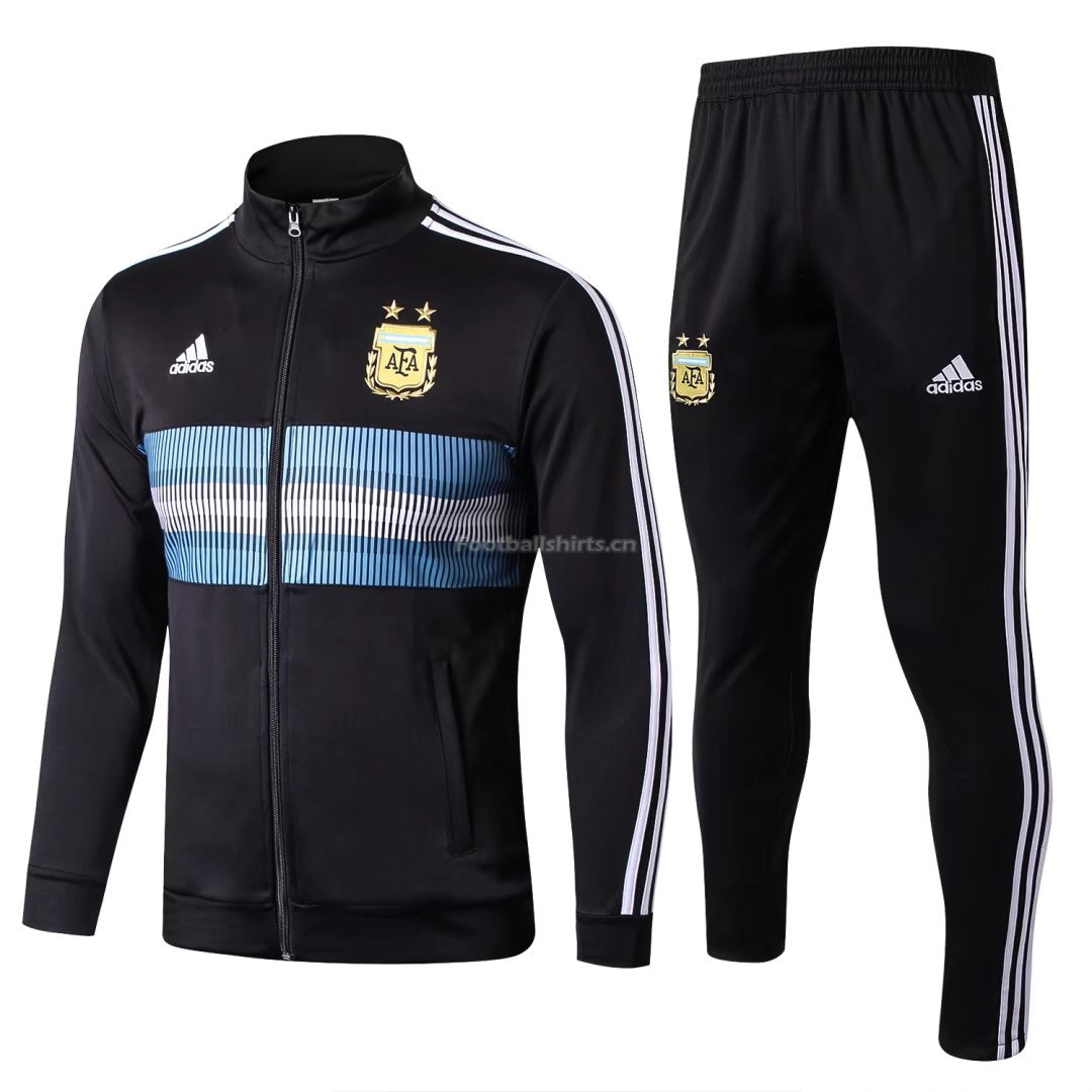 Argentina FIFA World Cup 2018 Training Suit Black Jacket + Pant
