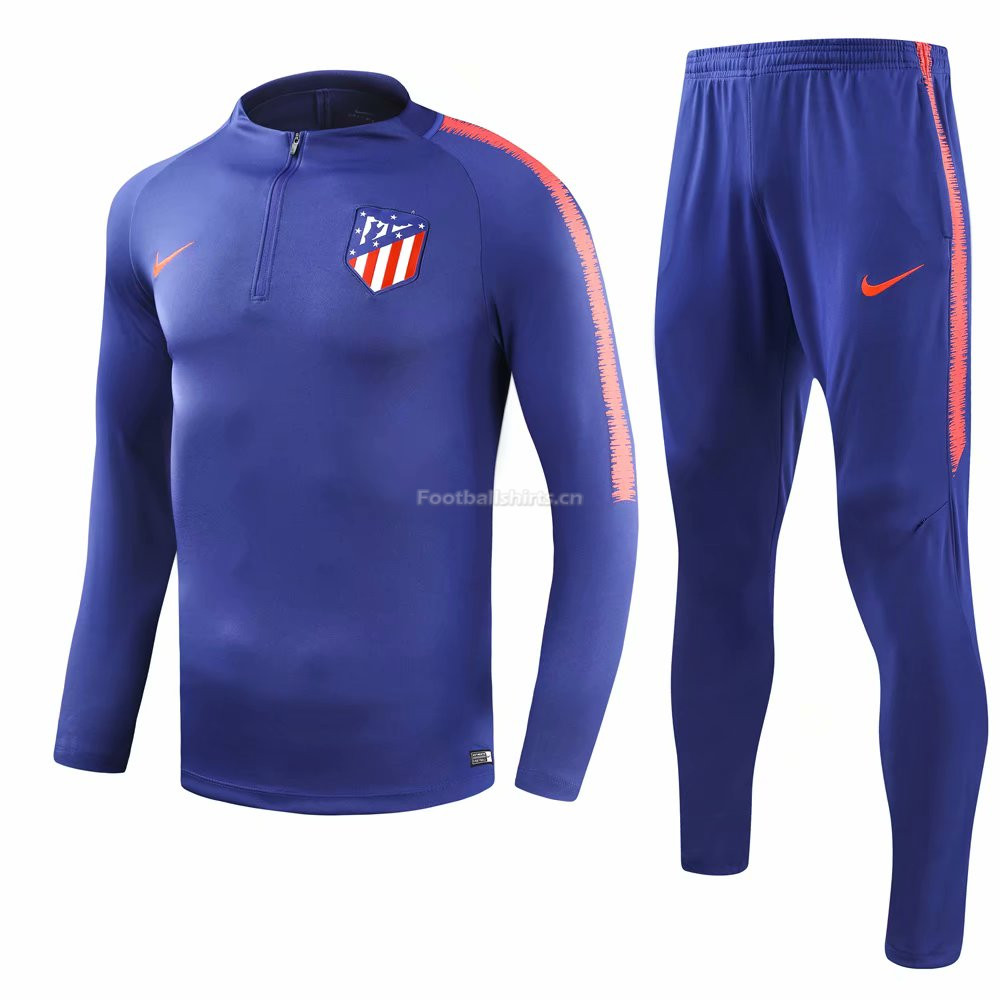 Atletico Madrid Blue Training Suit (Shirt+Trouser) 2018/19