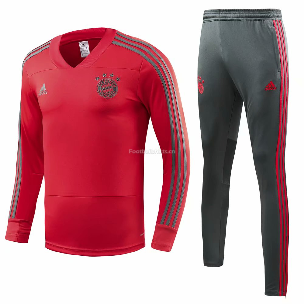 Bayern Munich Red Training Suit (V-Neck Shirt+Trouser) 2018/19
