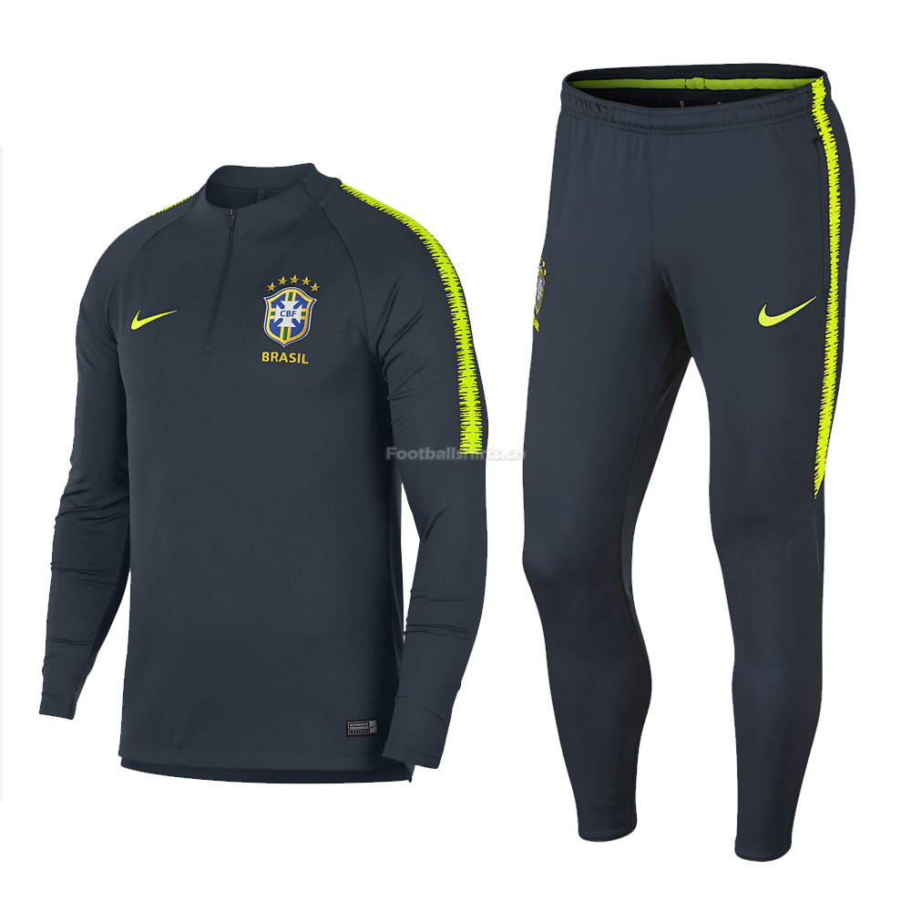 Brazil FIFA World Cup 2018 Training Suit Navy Sweat Shirt + Pan