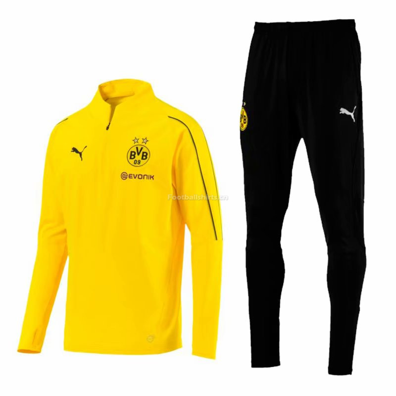 Borussia Dortmund Yellow Training Suit (Zipper Shirt+Trouser) 20