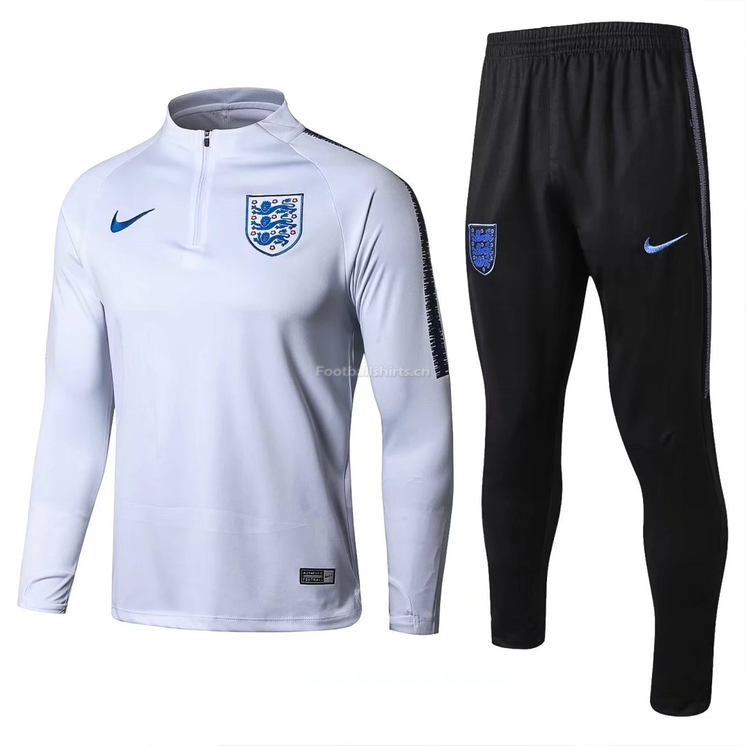 England FIFA World Cup 2018 White Training Suit (Zipper Sweat Sh