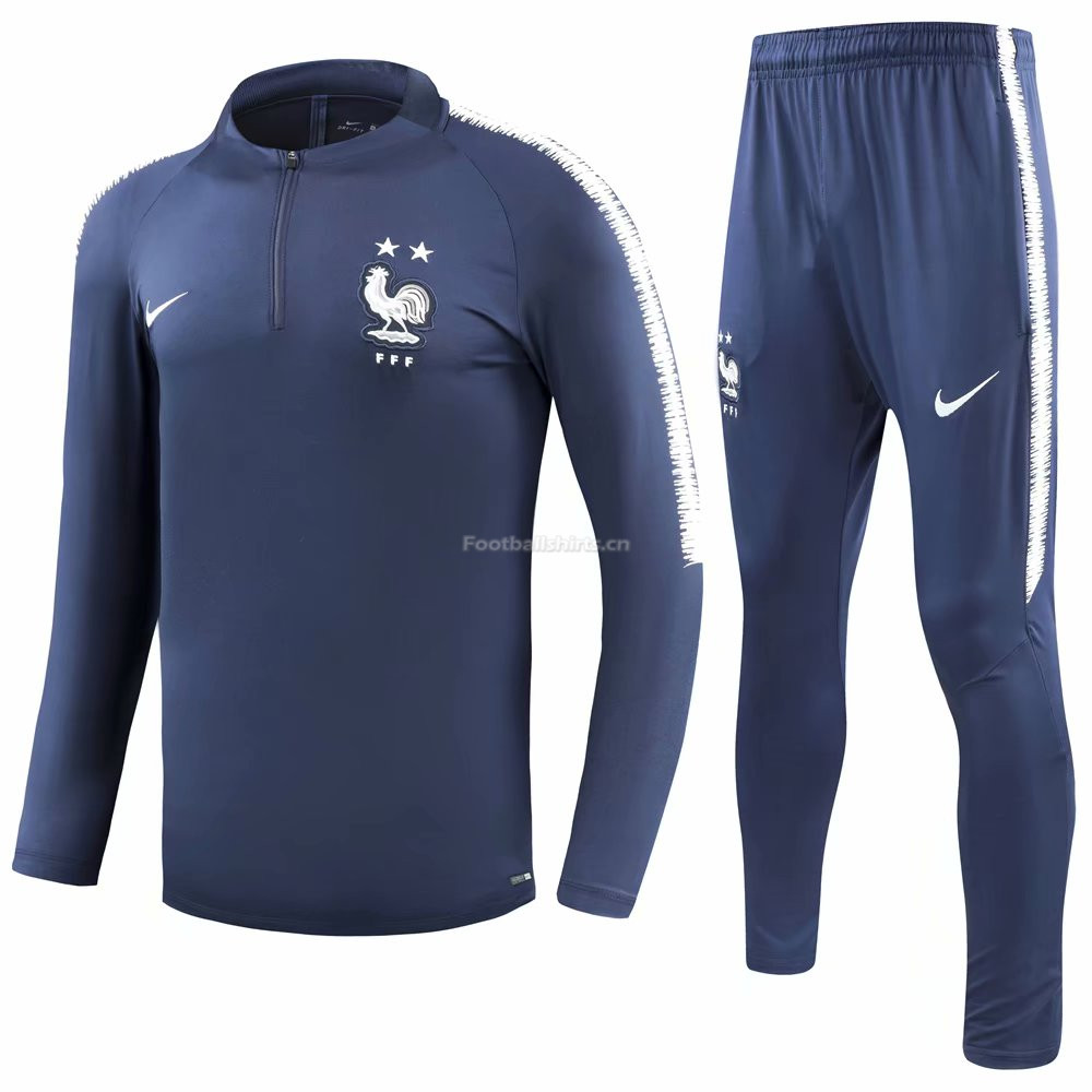 France 2 Stars FIFA World Cup 2018 Royal Blue Training Suit (Shi