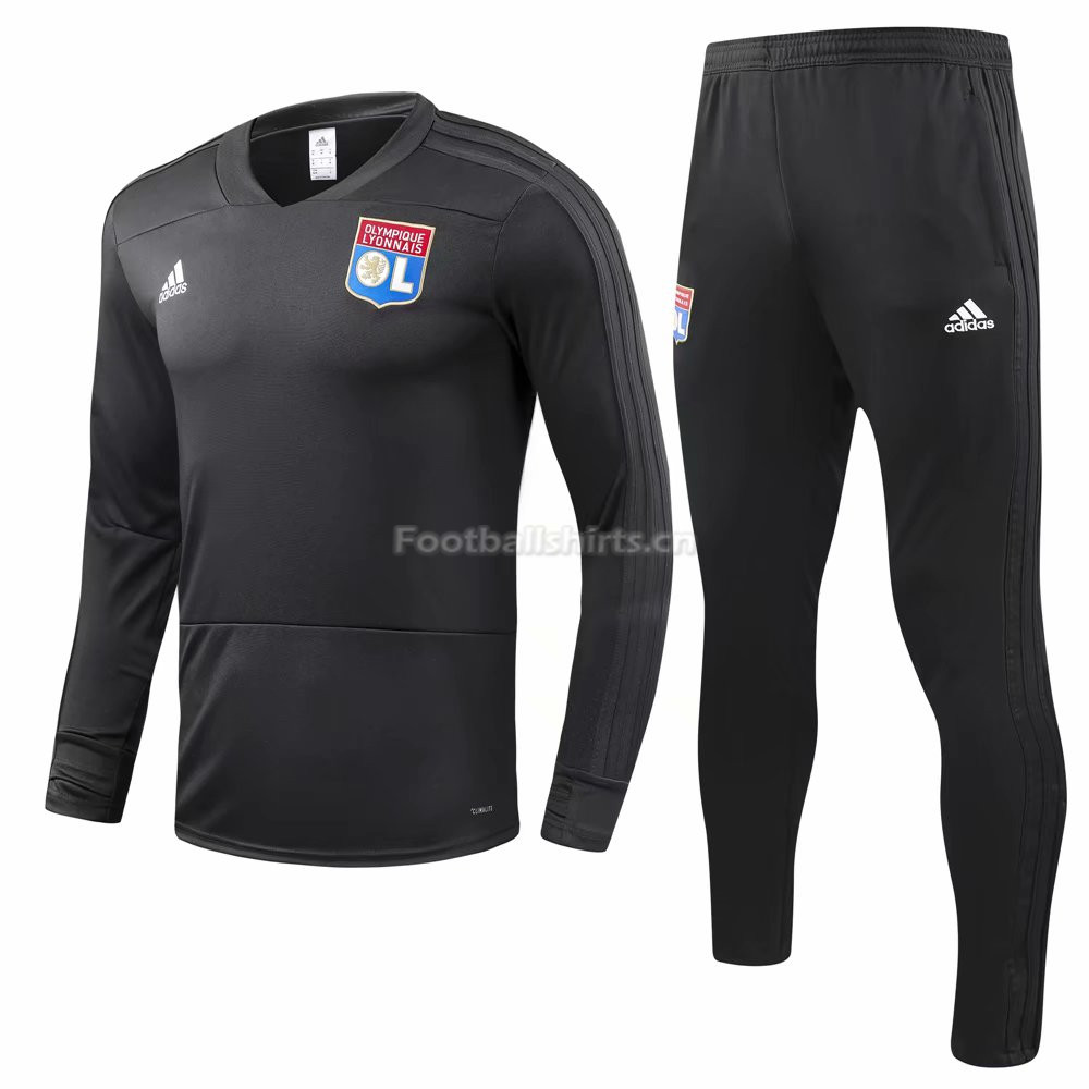 Olympique Lyonnais Black Training Suit (Shirt+Trouser) 2018/19