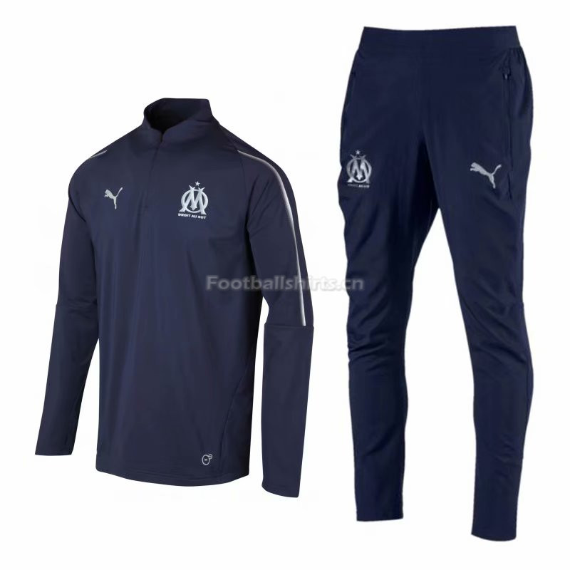 Olympique Marseille Navy Training Suit (Shirt+Trouser) 2018/19