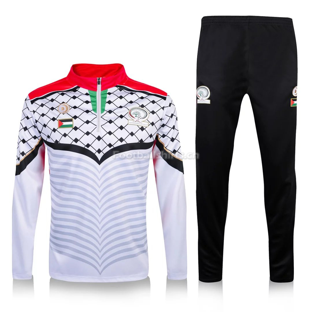 Palestine 2016/17 White Training Suit (Shirt+Trouser)