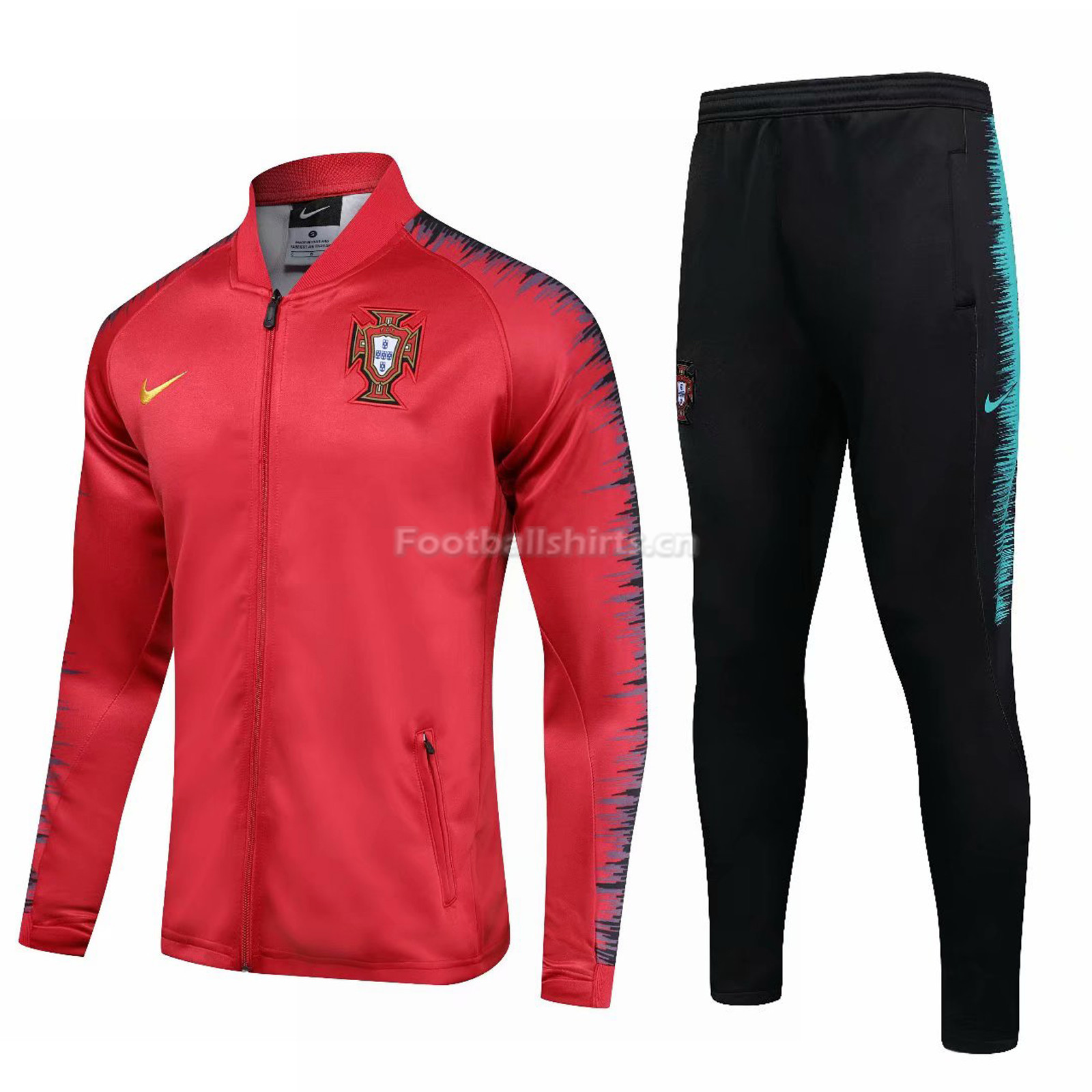 Portugal 2018 FIFA World Cup Red Training Suit (Jacket+Trouser)