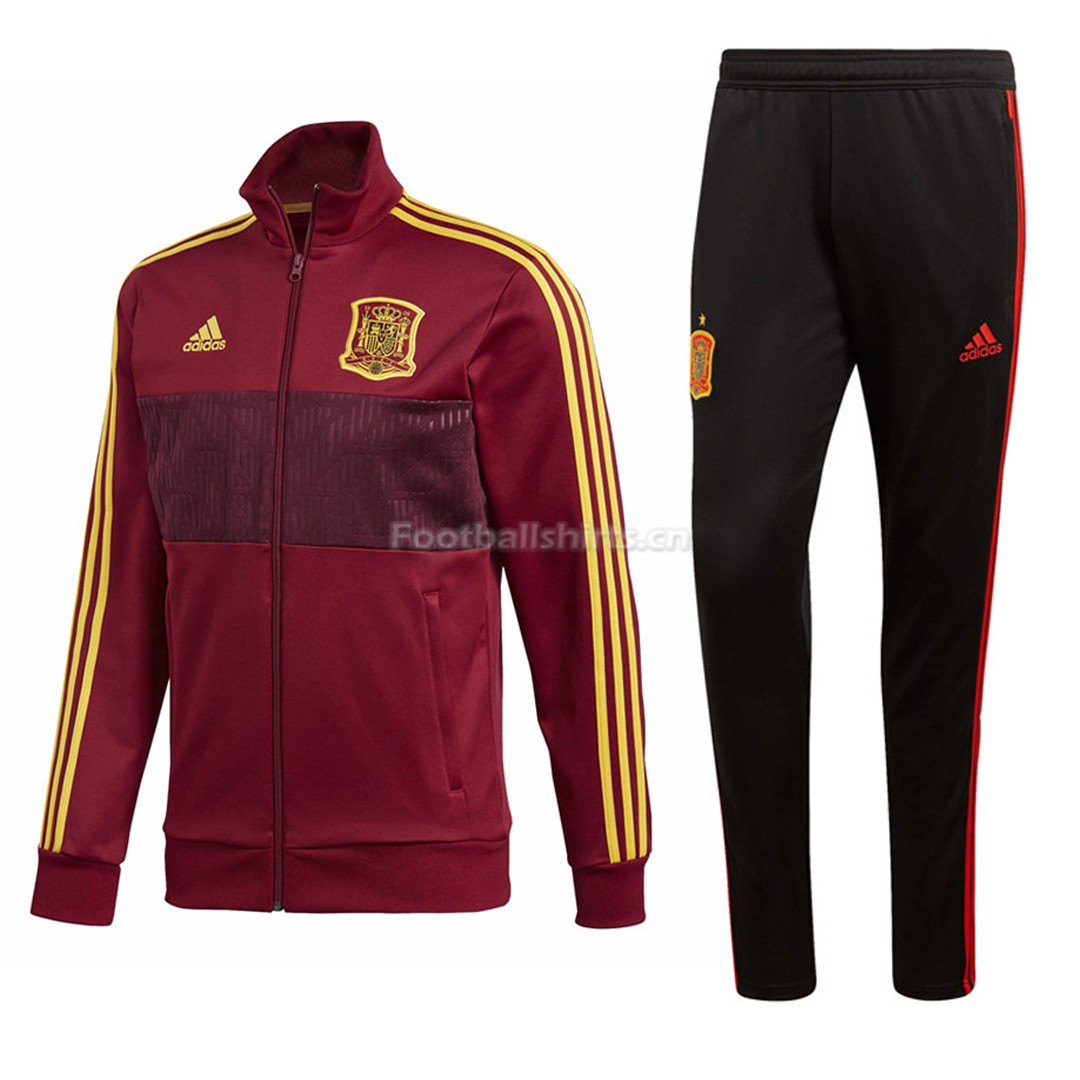 Spain FIFA World Cup 2018 Burgundy Training Suit Jacket + Pants