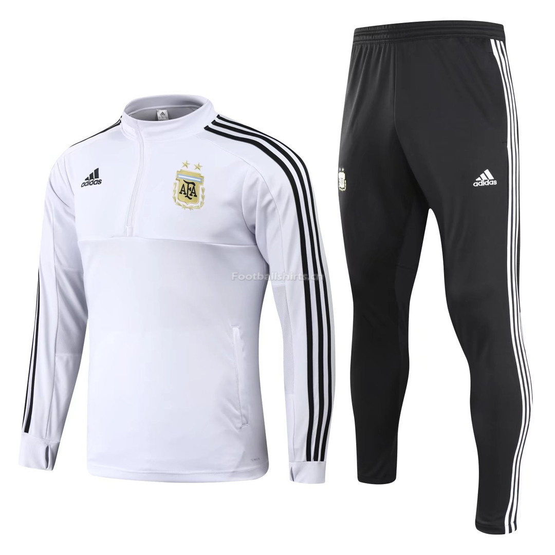 Argentina 2018 FIFA World Cup White Training Suit (Shirt+Trouser