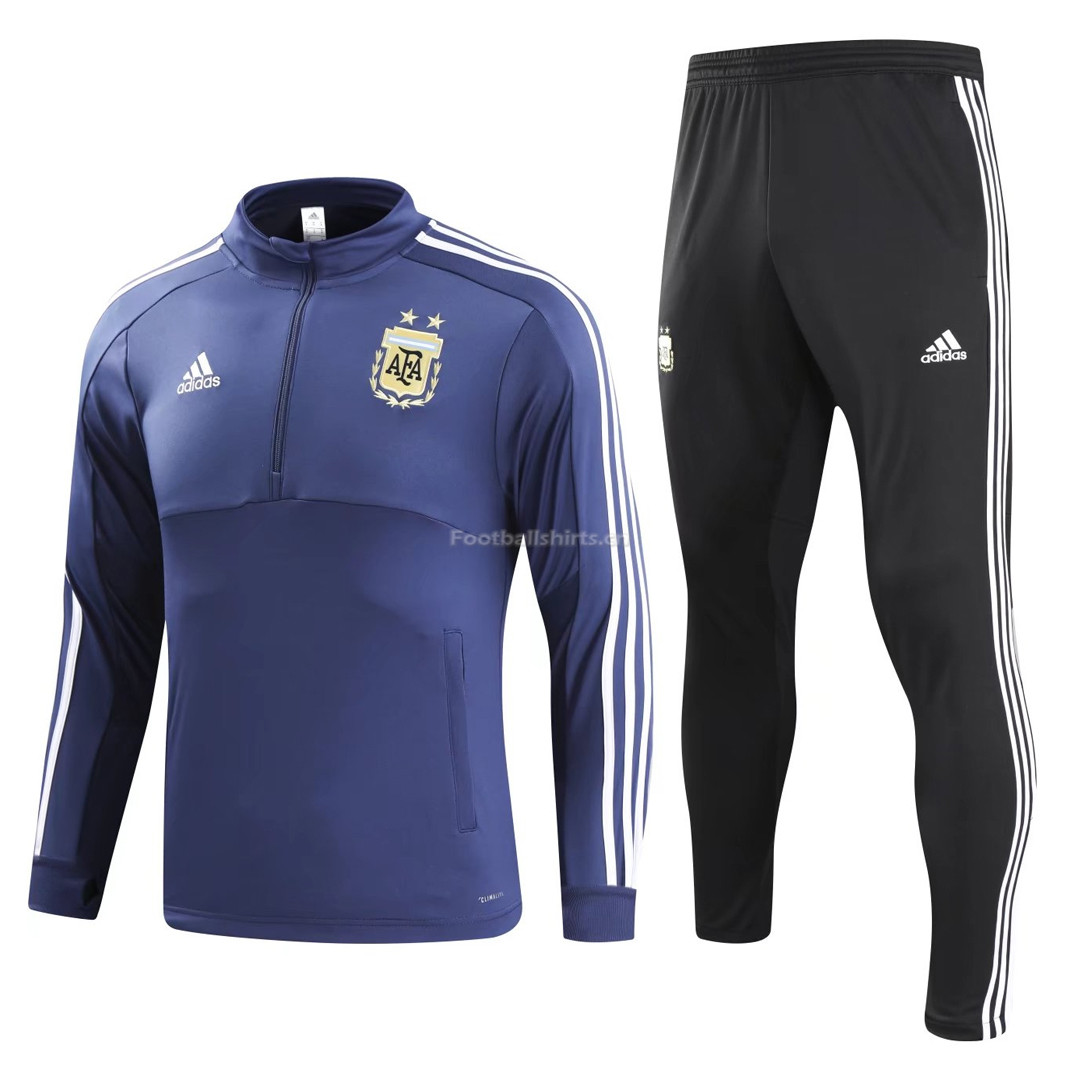 Argentina 2018 FIFA World Cup Blue Training Suit(Shirt+Trouser)