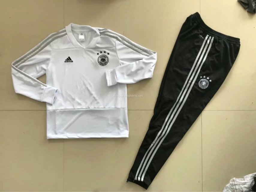 Germany FIFA World Cup 2018 White Training Suit (Sweat Shirt+Pan