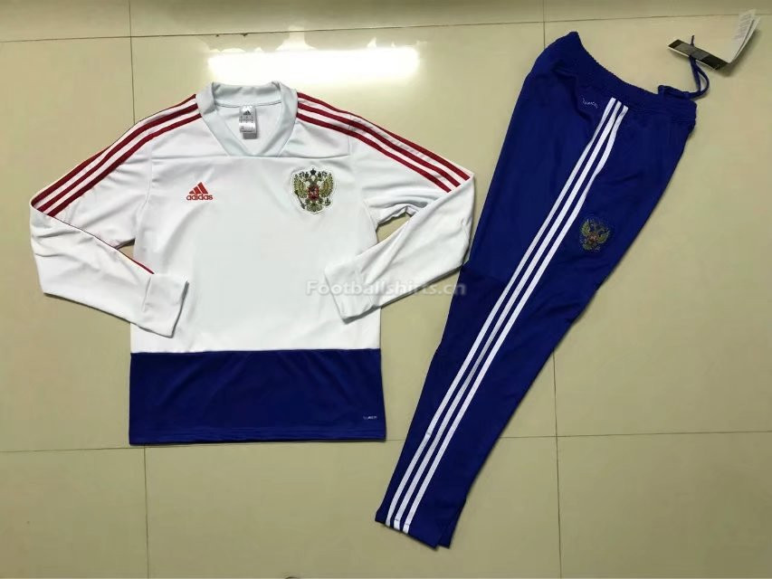 Russia FIFA World Cup 2018 White Training Suit (Sweat Shirt+Pant