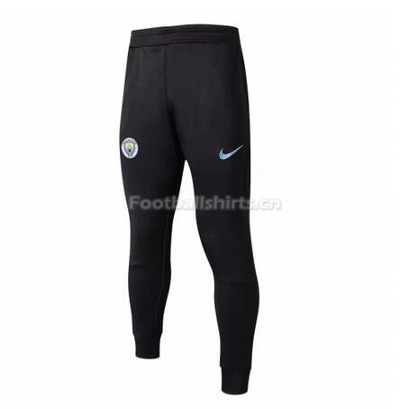 Manchester City 2017-18 Training Pants Black