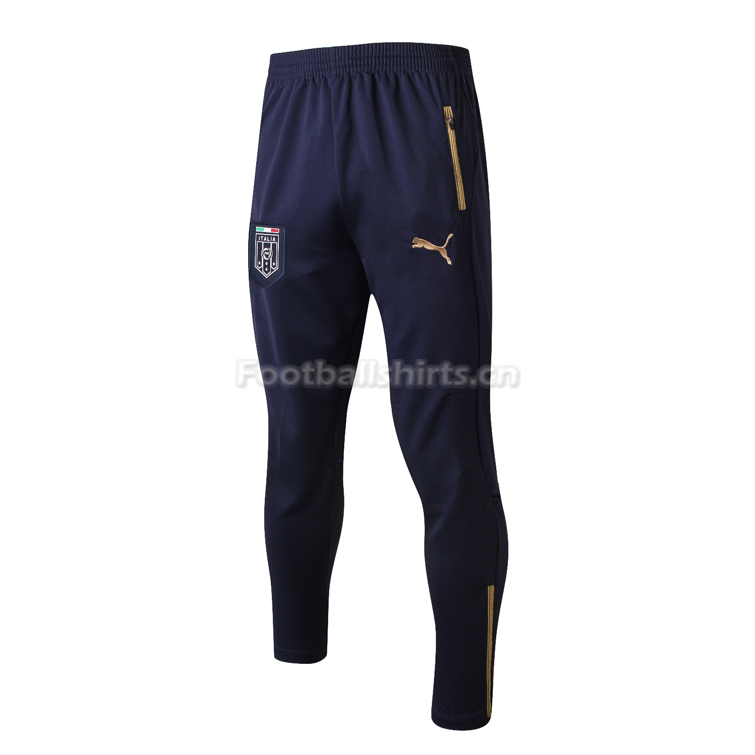 Italy Black Training Pants (Trousers) 2017/18