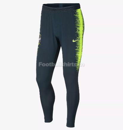 Brazil World Cup 2018 Black Training Pants