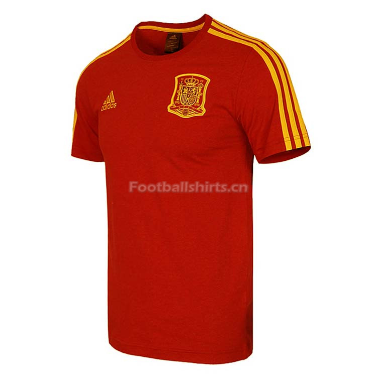 Spain FIFA World Cup 2018 Red Crest T-Shirt