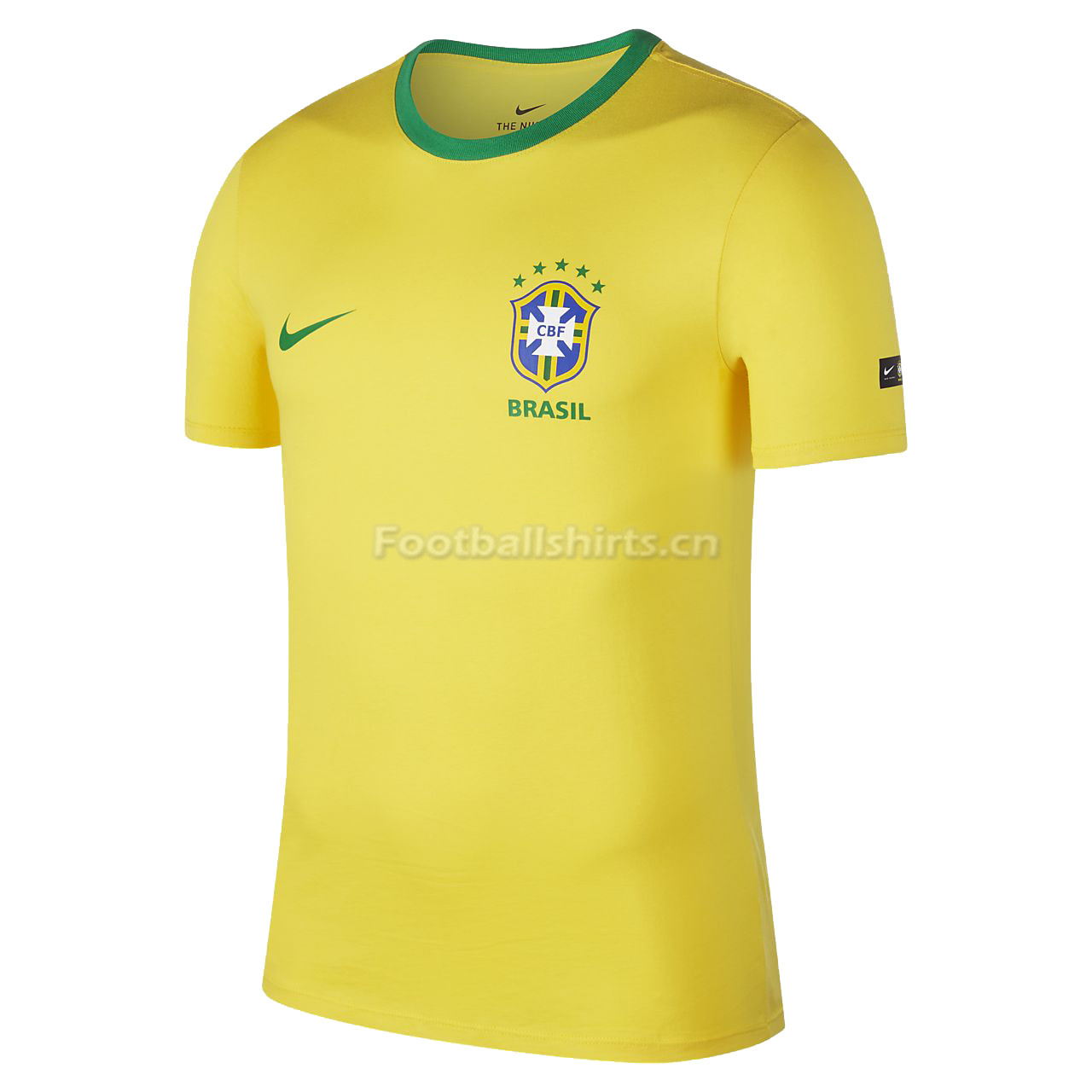 Brazil FIFA World Cup 2018 Yellow Crest T-Shirt