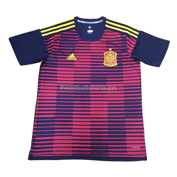Spain 2018 World Cup Red&Navy Pre-Match Training Shirt