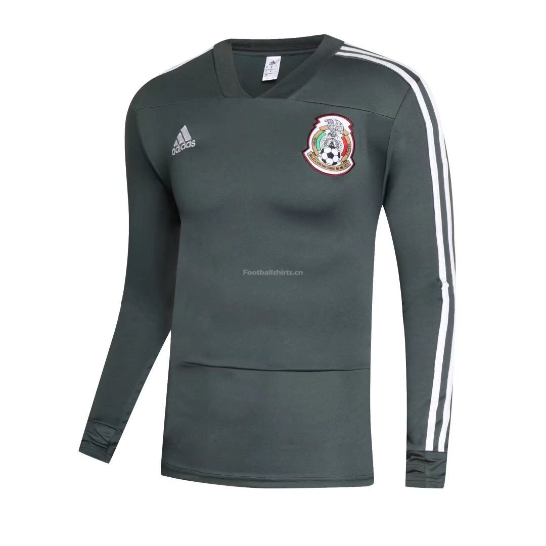 Mexico World Cup 2018 Training Sweat Shirt Green